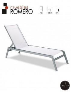 Tumbona de aluminio M803 de...