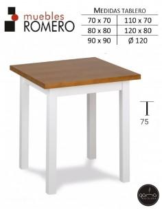 Mesa de madera de pino...