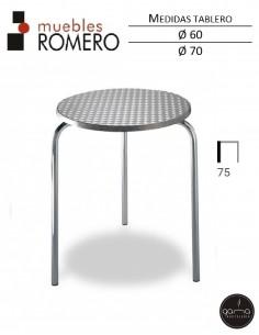 Mesa de aluminio y acero...